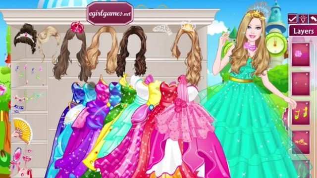 barbie dress up make up games