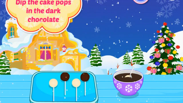 Christmas Pudding Cake Pop