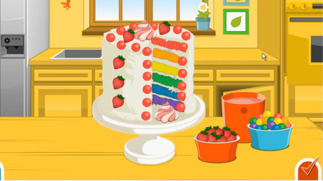 Emma Recipes: Rainbow Clown Cake